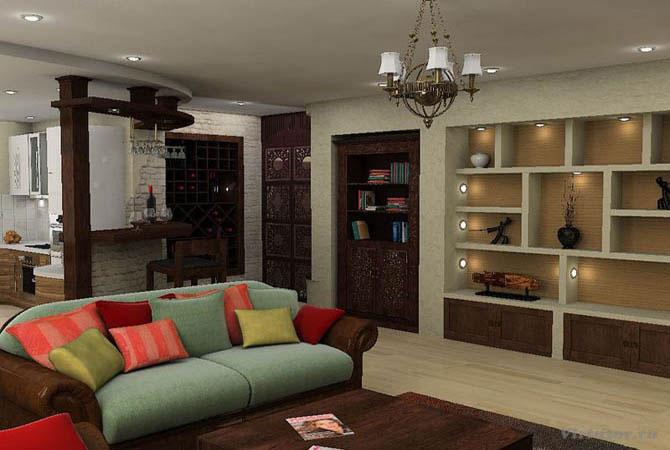 Дачный дизайн комнат фото